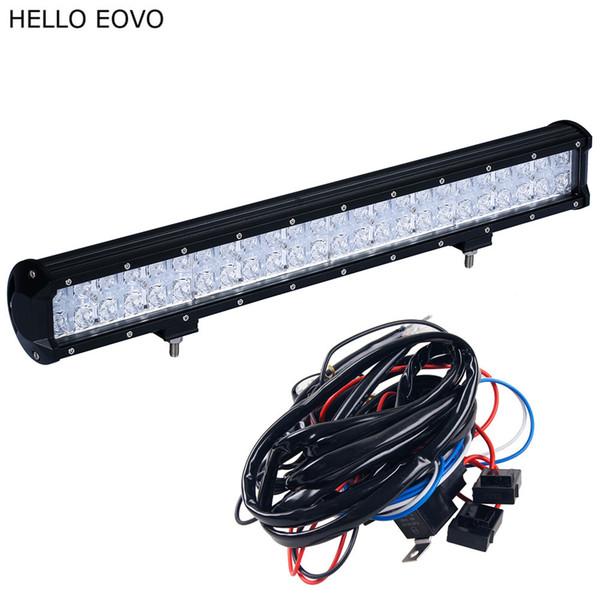HELLO EOVO 7D 22 Zoll 240W LED Lichtleiste für Arbeit Indikatoren Driving Offroad Boot Auto Traktor LKW 4x4 SUV ATV