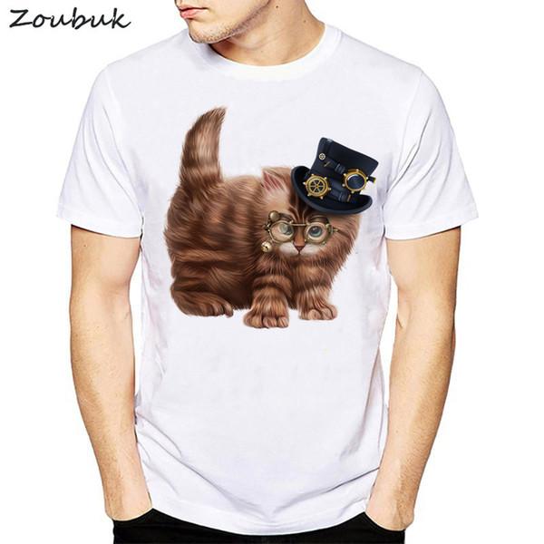3D Cute Cat T-shirts men Summer Tops Tees Print Animal T shirt 2018 New women o-neck short sleeve Fashion Tshirts Plus Size