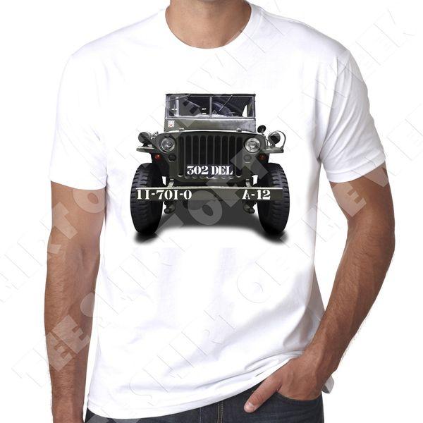 Willys GP WW2 4x4 hommes 100% coton T-shirt GP véhicule Funny livraison gratuite Unisexe Casual tee top