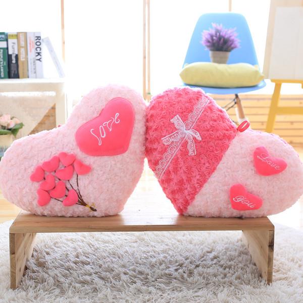 Rose Liebe Kissen Cartoon Kissen Valentinstag Geschenk Hochzeitsgeschenk Geschenk Liebhaber Dekoration 48 CM Gute Qualität XTY309