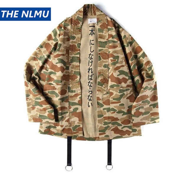 Japanese Style Jackets Men Hip Hop Kimono Camouflage Coat Autumn Fashion Vintage Jackets Mens Clothes 2018 J0414