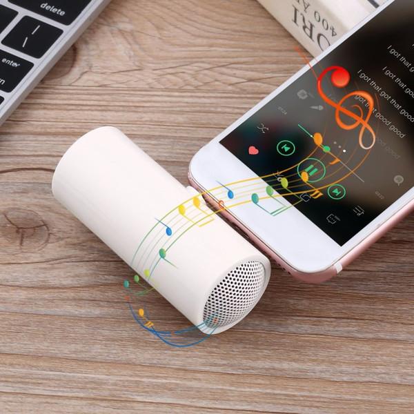 2018 el mini altavoz estéreo más nuevo blanco portátil del jugador de música de 3.5mm para la tableta del teléfono móvil MP3