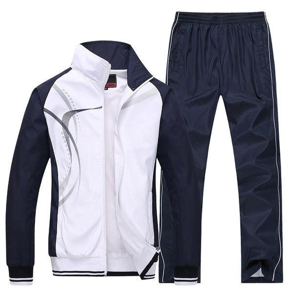 Cina Taglia L a 4XL Sportwear traspirante Uomo Giacche Set Zipper Coat + Pant Tute Set Uomo # 160175