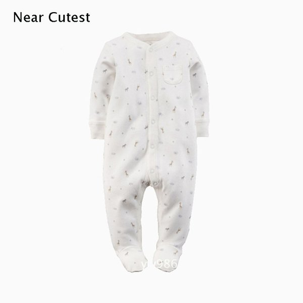 Near Cutest Baby Romper 2017 Autumn Winter Cotton Long Sleeve Baby Boy Girl Clothes One Piece Jumpsuit Underwear Clothing