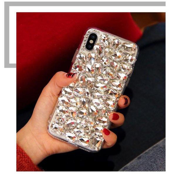 Luxury Shiny Diamond Phone Cover Case For Apple iphone XS XR For iphone XS MAX Big Rhinestone Phone Back Cases
