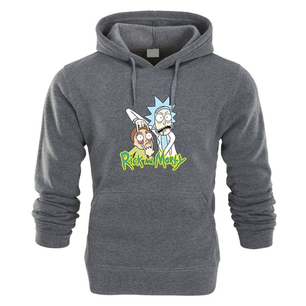 2018 Autumn hip hop Hoodies Men Fashion Cool Rick Morty Brand Pullover printing Turtleneck Sportswear Sweatshirt Tracksuits