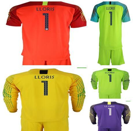2 STARS 2018 World Cup goalkeeper jerseys #1 LLORIS GRIEZMANN MBAPPE POGBA Long Sleeve Goalie T Shirt Kits