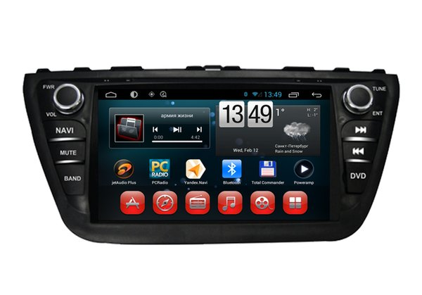 Supplier 2 Din Car DVD GPS Navigation System for Suzuki SX4 / S-Cross 2014 Built in Wifi and 3G, fast speed surfing