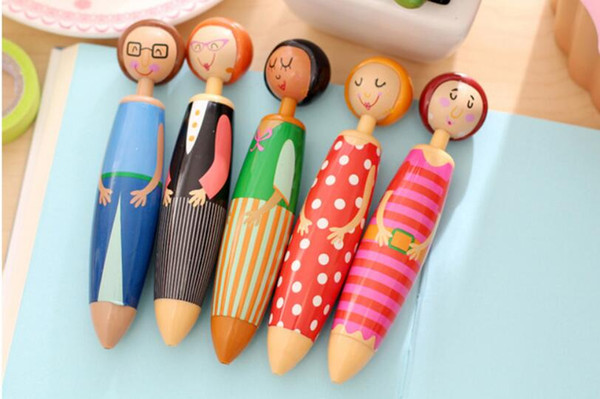 Sweet Girl Doll Ballpoint Pen - Lovely Cute Cartoon ball writing pen zakka Stationery office school supplies