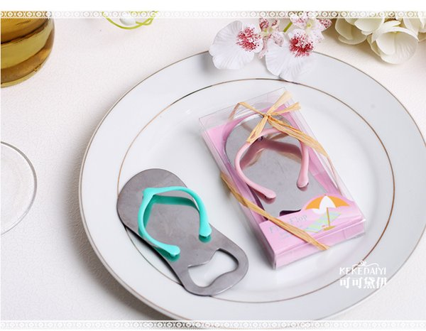 Freeshipping 100pcs/lot Pop the Top' Flip Flop Bottle Opener Wedding Favors Gift