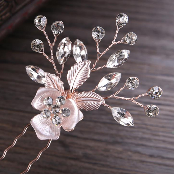 2018 new hairpin wedding banquet, hair accessories, bridal ornaments, headwear, hair fork