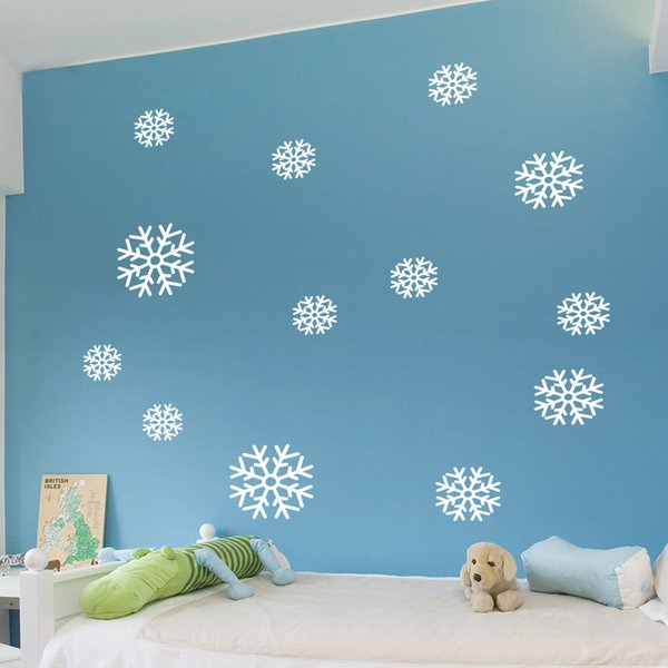 Christmas Snowflakes Window Stickers Vinyl Christmas Wall Decals DIY Festival Wall Art Sticker Murals for Living Room and Kids Room Decor