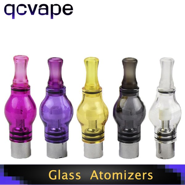 Glass Globe Atomizers Dry Herb Vaporizer Replacement Wax Coils Vapor Tank with Metal Ceramic Coil Heads For EGO T E Cigs Battery