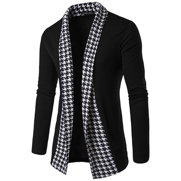 Men Concise V-Neck Plaid Sweater Cotton Sweater Men Long Sleeve Cardigan Mens Sweaters Loose Fit Casual Style Clothing New High Quality New