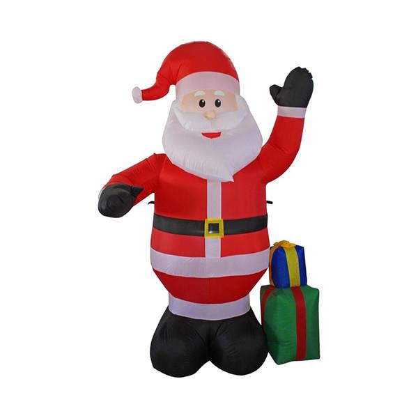 Divertente Ball Party Costume gonfiabile Babbo Natale Cartoon Lovely Buon Natale Decor 1,2 metri all'aperto Festival Modello 68qy Ww