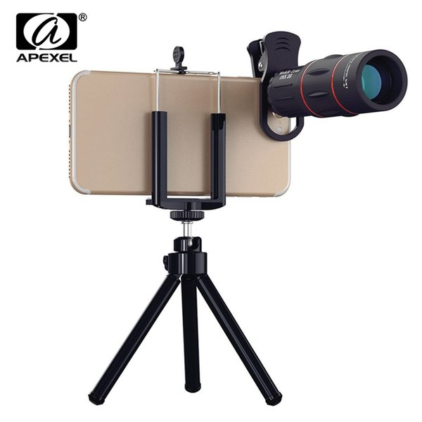 Universal 18X Telescope Optical Zoom Mobile Phone Lens for iPhone Samsung XIAOMI Smartphones clip Telefon Camera Lens