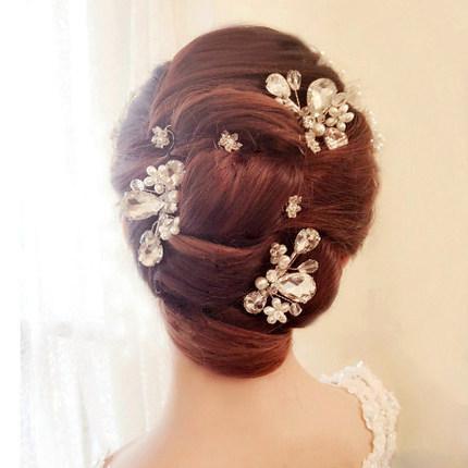 Bridal accessories, handmade pearl drill, hair comb, short hair headwear, wedding headwear, wedding accessories.