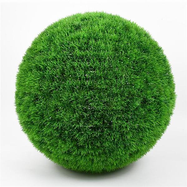 Una Dimensione 10 cm / 15 cm / 20 cm / 25 cm Verde Erba Palla Artificiale Erba Palla Verde Pianta di Plastica Palle Casa per la Decorazione Forniture di Nozze