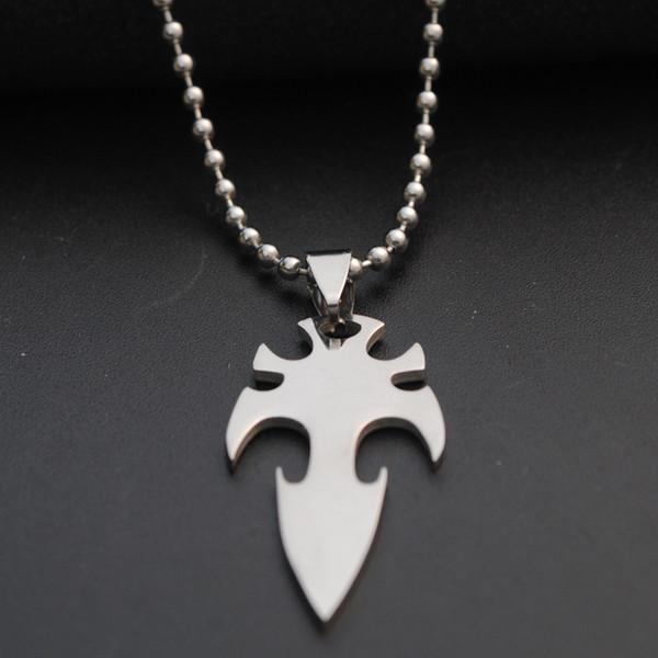 1 adet paslanmaz çelik ok dart charm kolye kolye silah deniz tanrı trident şanslı kolye süper kahraman kılıç dart titanium çelik kolye