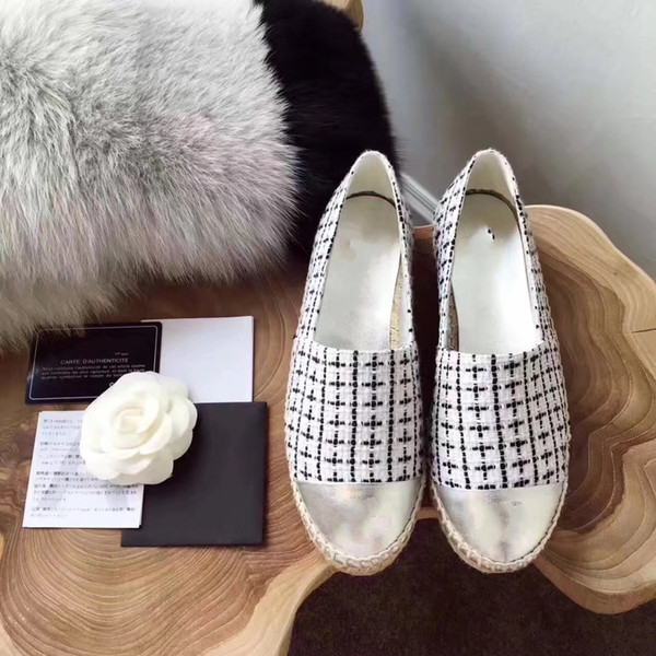 New Arrival Weave Silver Black Loafers Womens Spring Fall Slip on Lazy Shoes Fashion Flats