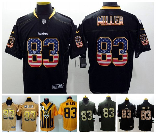 best sneakers 84f39 3bea8 2019 2019 Mens 83 Heath Miller Pittsburgh Jersey Steelers Football Jerseys  Stitched Embroidery Steelers Heath Miller Color Rush Football Shirt From ...