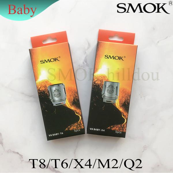 Original SMOK TFV8 Baby Coil Head Replacment T8 X4 T6 Q2 M2 Beast Coil Engine Core for H PRIV Mini 50w Kit