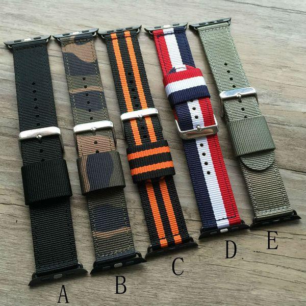 1 PCS Novo para apple Watchband tecido Fino nylon à prova de suor pulseira de relógio dos homens 38 MM 42 MM
