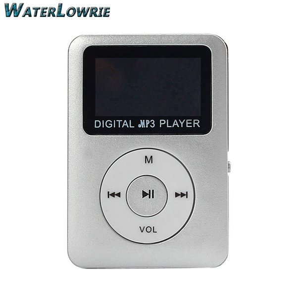 Waterlowrie LCD Screen MP3 Mini USB MP3 Music Media Player Support 8GB Micro SD TF Card Built-in speaker Portable Sport MP 3