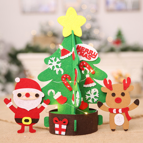 Christmas Crafts 2019.2019 Year New Year Merry Christmas Gift Non Woven Diy Christmas Tree Crafts Table Holiday Home Decoration Accessories Custom Christmas Ornaments Deco