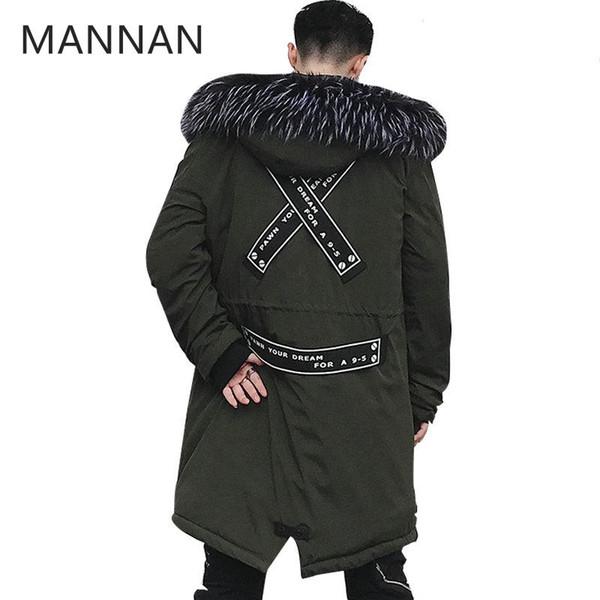 MANNAN Autumn Winter Jacket Men Hoodie Men Warm Coats Parkas Long Street Style Winter Jackets Windproof Male Outwear
