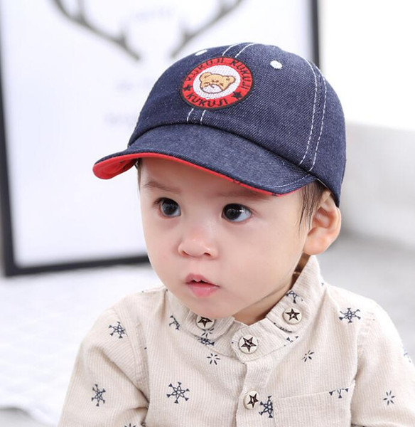 top popular 2018 Wholesale baby hats spring and summer boy cap children's baseball caps female baby cute soft visor hat MZ001 2021