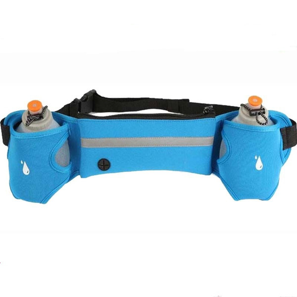 best selling Hot Outdoor Sports Cycling Running bag Jogging Walking Waist Belt Bag Pack Pot Holder Stander With 2 Water Bottles