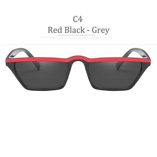 Lente grigia con montatura nera rossa C4