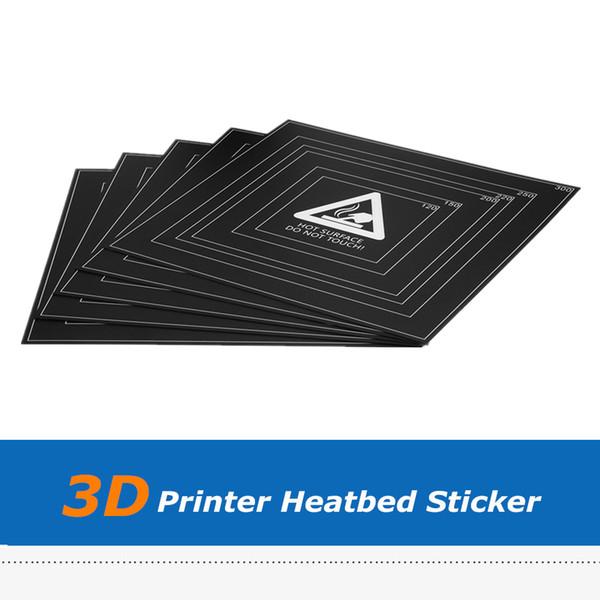 5 unids Impresora 3D Parte 310 * 310 * 0.5mm Cama Térmica Adhesivo Hotbed Sticker Hoja de Cinta de Película Con Marco de Alambre Para DIY corte