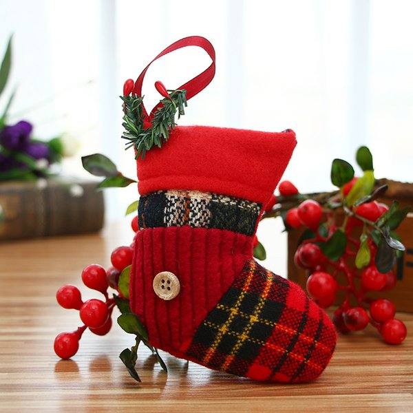 12 pcs/lot Christmas Tree Decorations For Home Christmas Socks Pendants Creative Xmas Decor Ornament Party Decors enfeite natal