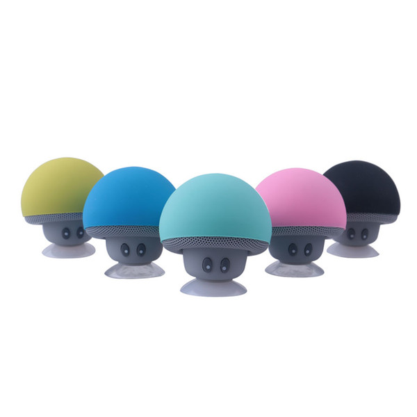 Portable Mini Mushroom Wireless Bluetooth Speaker Waterproof Shower Stereo Subwoofer Music Player