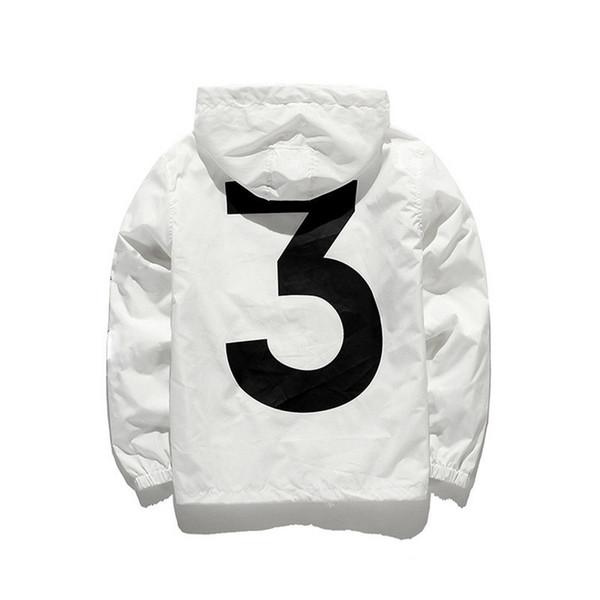 Mens Women Fashion Skateboard Jackets Hooded Windbreaker Long Sleeve Streetwear Black White Jackets Cotton Blend for Male