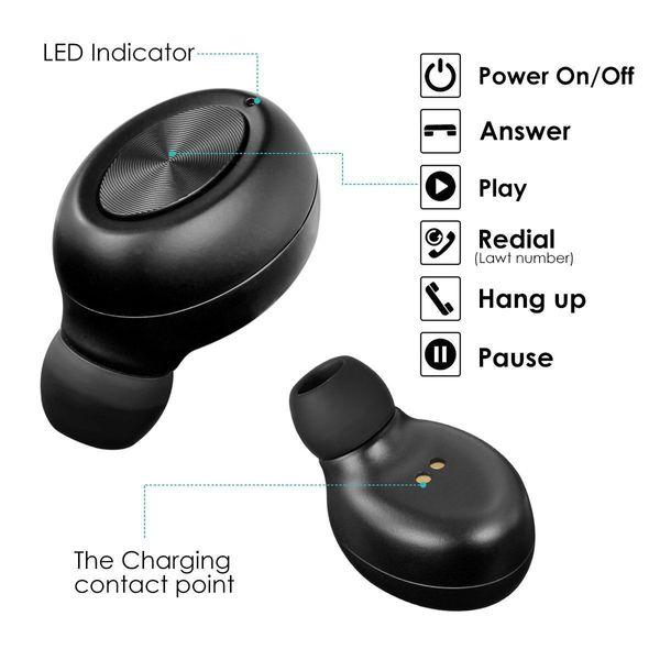2018 Yeni Mini Kablosuz Bluetooth Kulaklık Gürültü Kulakiçi Kulaklık Telefon Tablet PC Için PK Manyetik Şarj PK S530 i7 i7s TWS