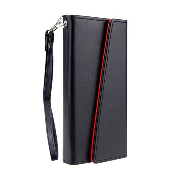 For iphone X 7 6 Plus S8 S9 Real Genuine Leather Wallet Credit Card Holder Stand Case Cover For iphone 8 5 6S