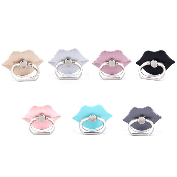 360 Degree lip Finger Rings Smartphone Phone Stand Holder Mobile Phone holder stand For iPhone iPad all Phone