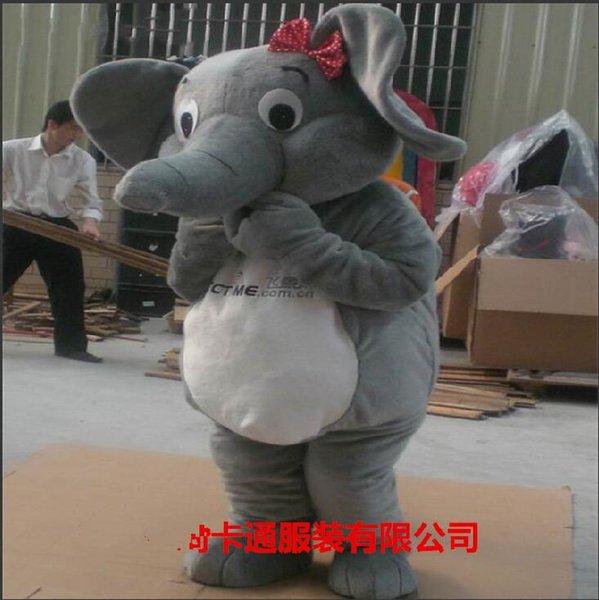 Los nuevos colores profesionales del traje de la historieta del traje de la mascota del elefante pueden ser modificados para requisitos particulares