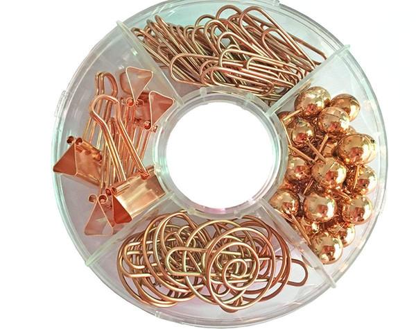 Ensemble de trombones décoratifs de 65 PCS, multi-type de carte à punaises pour pinces à longue queue