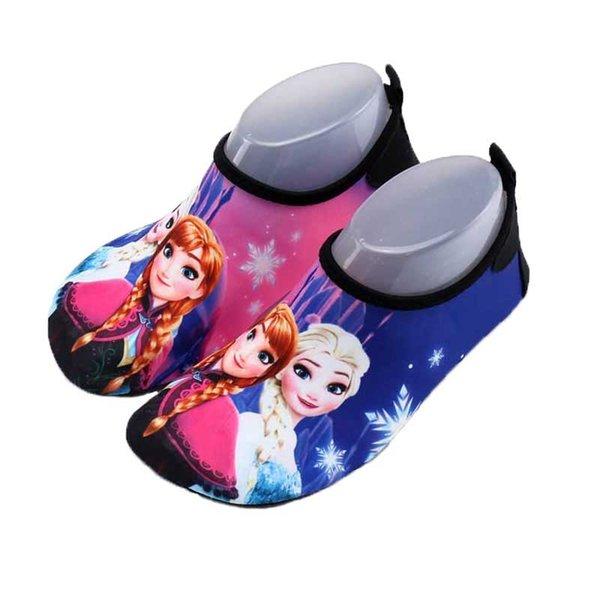 Унисекс плавательный воды обуви дети принцы печати быстро сухой противоскользящие босиком кожи Обувь запустить погружение Surf плавать пляж Обувь Обувь