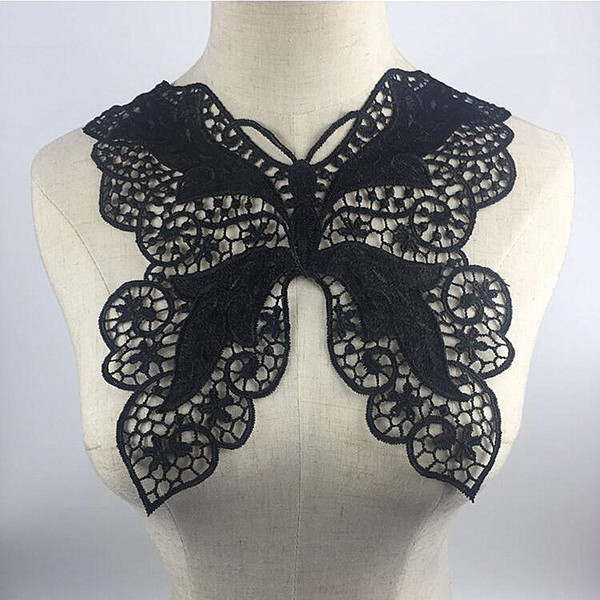New Arrival Embroidery Lace Collar Floral Embroidered Applique Lace Neckline Collar Garment Accessories Scrapbooking Fabric Trim DIY Sewing