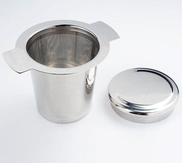 Infuseur Café maille fine Couvercle en Acier Inoxydable Filtre Passoire à thé
