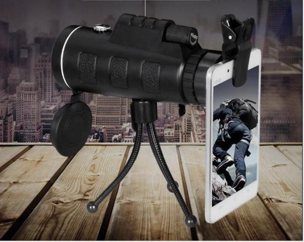 40X60 High Definition HD glasses dual adjustable outdoor available mobile phone photo clip single telescope