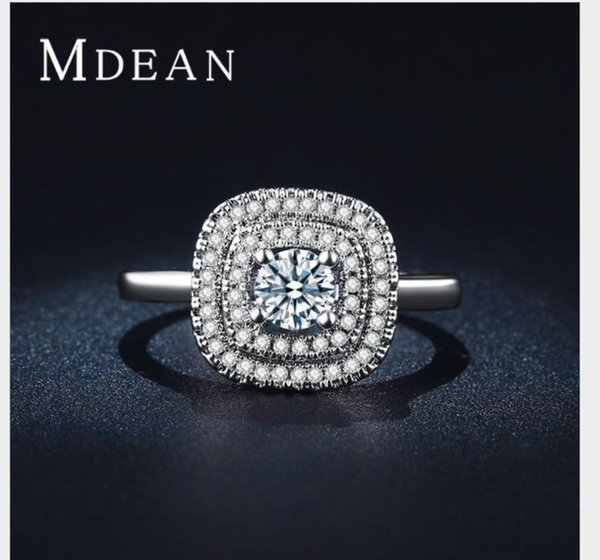 High grade white gold trend ring with high quality zircon.