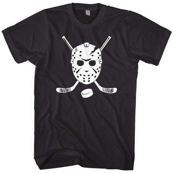 Mixtbrand Men's Goalie Mask and Hockey Sticks T-Shirt