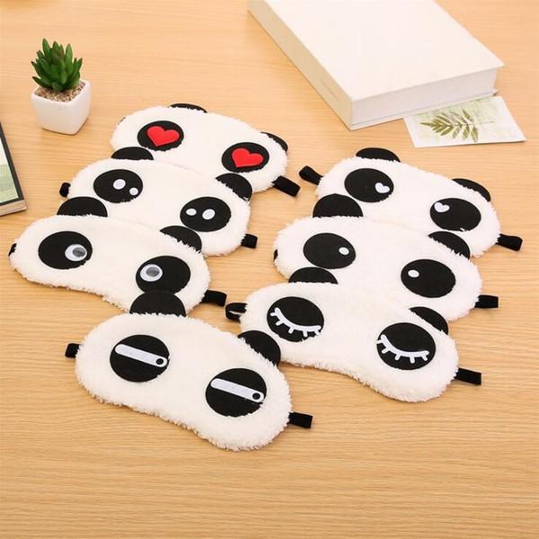 Sevimli Panda Uyku Yüz Göz Maskesi Körü Körüne Siperliği Seyahat Uyku Pamuk Eyepatch Göz Kapağı Sağlık
