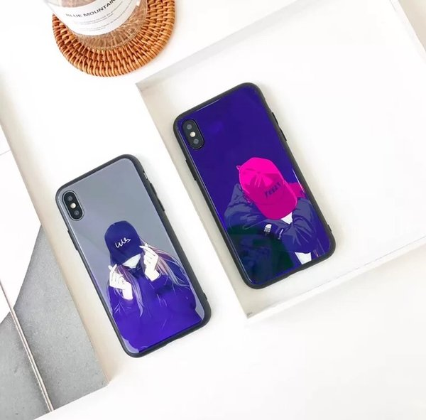 PURE KASE Designer Phone Case for Iphone X with Anti-Scratched Tempered Glass Back Cover and Reinforced Bumper
